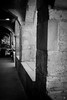 Les Arcades (Fred Luckythirteen) Tags: canon powershot g7x rawtherapee gimp noir noirblanc noiretblanc black blackwhite monochrome place saint louis rue du grand cerf metz moselle 57 lorraine france pierre ancien