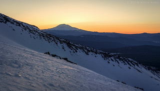 Sunrise Over Mt Adams