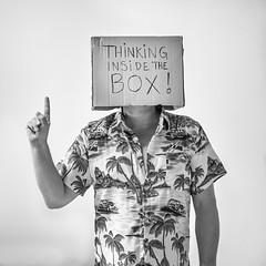 Thinking inside the box (Jorn Eriksson) Tags: creative business thinking thinkinginthebox box notcreative creativethinking greatmind clever genius mind brainstorming process outside