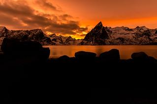 Sunset over Olstinden