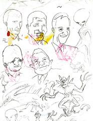 Esboços 2 (Cesar Crash) Tags: antigo old drawings desenho esboço sketch caderno