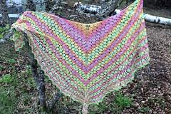2018.05.17. katia jaipur shawl 3549m (villanne123) Tags: 2018 shawl scarf pitsineule pitsihuivi lace villanne puuvillalanka katiajaipur neulottu knitting huivit handknitted handknit