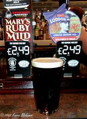May 14th, 2018 Today's Tipple - Wilfred's Mild (karenblakeman) Tags: baroncadogan caversham uk pub beer ale mild loddonbrewery nethergatebrewery marysrubymild 2018 2018pad may reading berkshire wilfredsmild wilfredowen