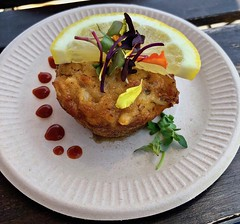 crab cake from SPRO Coffeelab (Fuzzy Traveler) Tags: crabcake crab lemon creole sprocoffeelab sparksocialsf seafood