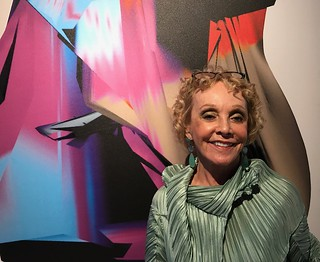 Sheila Elias at her opening (Lowe Art Museum)
