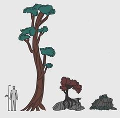 Some Nature Studies (Marley Mac) Tags: digital studies marleymac rock tree drawing