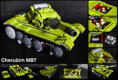Cherubim (Commander626) Tags: lego tank cherubim lime green future design main heavy battle mbt