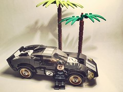 Bruce Wayne's new Car #lego #moc #summer #car #batman #dc #dccomics #palmtree (bagira.norm2) Tags: lego moc summer car batman dc dccomics palmtree