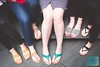 Week 21: Spring (bmurphy502) Tags: feet sandals spring toes shoes teal black green beige people ladies legs coworkersrock 35mm city outside friends seasons fun lady fromabove pov perspective naturallight summer summertime springtime springstyle ruleofodds fromwhereistand flatsandals