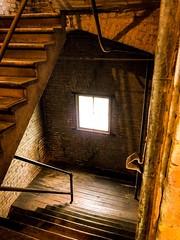 Window of opportunity (Beegmnphoto) Tags: 7dwf iphonex iphone loganpark minneapolisminnesota artawhirl building light window stairs