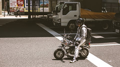 Lil' Easy Rider (3rd-Rate Photography) Tags: honda monkey motorcycle limitededition chrome vehicle city road street minibike tokyo japan canon 50mm 5dmarkiii 3rdratephotography earlware 365