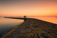 Eastern Breakwater (GenerationX) Tags: barr canon6d edinburgh espartowharf firthofforth grantonharbour neil scotland scottish breakwater calm clearsky dawn gloaming harbour landscape mirror morning pier river sea seascape sky sunrise wall water unitedkingdom gb