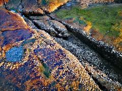 Rock colors (MelindaChan ^..^) Tags: zhuhai china 珠海 外伶仃島 chanmelmel mel melinda melindachan sky sunset water sea evening island