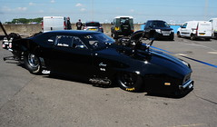 Blackbird_9001 (Fast an' Bulbous) Tags: racecar automobile car vehicle doorslammer fast speed power acceleration motorsport drag race track pits santapod nikon outdoor