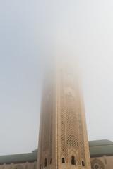 Mosquee (Guy Goetzinger) Tags: goetzinger d500 nikon morocco turm moschee fog casablanca hassan religion arabic islamic islam tower building bottomup morning maroc africa 2018 top best misty weather mist nebel mosquee
