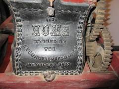 Hydraulic Press (jamica1) Tags: laurel packinghouse artifacts museum kelowna okanagan bc british columbia canada mt gilead ohio hydraulic press 1131 home