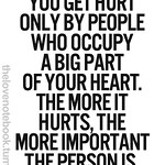 Quotes About Love  : You get hurt only by people who occupy a big part of your heart. The more it hur... thumbnail