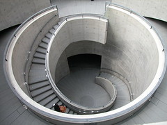 What's your opinion (sylvialiu) Tags: japan concrete gallery tadaoando hipbotunsquare circularstair
