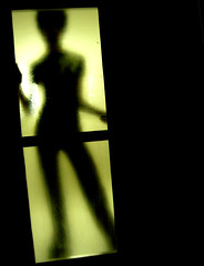 They are coming! (radiant guy) Tags: light shadow portrait orange yellow contrast pose scary alien dramatic panasonic spooky drama preprocessed fx01 panasonicfx01
