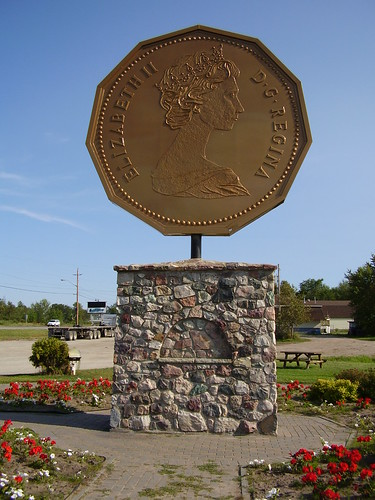 monument to the designer of the Loonie coin in his hometown