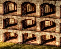 THE CATACOMBS (SkyShaper) Tags: newyorkcity shadow stone fort arches statenisland catacombs fortwadsworth skyshaper