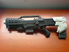 Nerf Longshot CS-6b(lack) (The Erice Photo Extravaganza) Tags: mod painted nerf longshot cs6 nerfarmy