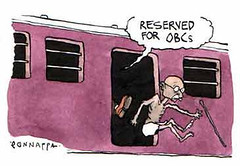 If gandhi was alive today... (Dharmesh Thakker) Tags: india train gandhi future mumbai reservation mandal obc gandhiji quota antireservation antiquota