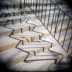 United Church Steps (J.T.R.) Tags: toronto holga holga120s