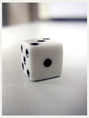 Roll it (Ravages) Tags: opportunity white dice black game macro dof bokeh small plastic roll chance success gamble bet bokehsoniceaugust bokehsoniceaugust28