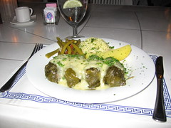 And my dish, dolmades (Ned Raggett) Tags: dinner greek restaurant orangecounty tustin dolma dolmades christakis