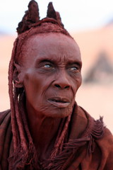 Ohma - the inofficial chief of the Himba Village (EaglElla) Tags: africa people woman faces african culture tribal safari tribes afrika tribe ethnic namibia tribo himba afrique ethnology tribu nomadic namibie tribus ethnie