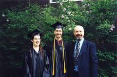 Graduation with my Dad