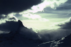 Matterhorn in Storm (Limna) Tags: storm mountains alps switzerland dusk velvia zermatt matterhorn mountainsalps elevation40004500m altitude4478m summitmatterhorn