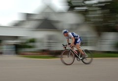 Bike racer (Mr. Physics) Tags: motion blur sports bike bicycle sport race speed cycling action michigan rochester cycle cyclingrace bikerace rochesterhills racer 50k cyclerace msoller abigfave