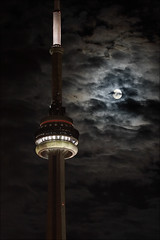 moon and tower (wvs) Tags: sky moon toronto tower night clouds cn scary cntower creepy wvs ddoi