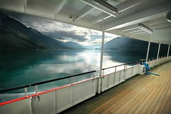 Clear the deck... (gms) Tags: red lake switzerland scenery view brienzersee calm deck p1f1 spseeingthelight