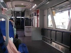 Room for bikes, strollers and wheelchairs on the train