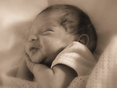 Contentment (beesparkle) Tags: life new sleeping baby cute love beautiful face sepia wow nice hit bravo child sweet sleep gorgeous birth adorable happiness dreaming newborn evolt newbirth e500 oympus kkfav softsoftness beginnerdigitalphotographychallengeswinner beginnerdigitalphotographychallengewinner