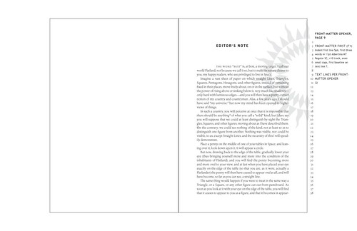 sample layout - editor's note
