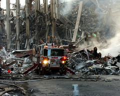 9/11 (slagheap) Tags: ny us chief 911 attack terrorist firetruck damage terrorism wtc fireengine groundzero videographer phc enduringfreedom groundzeronyc sep112001 nobleeagle