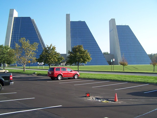 The pyramid buildings