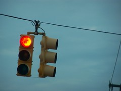 When the light at 15th and Beacon looks like this, a right turn could cost you $124. Photo by Ricochet Remington.