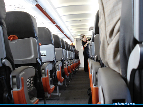 Empty seats on a plane