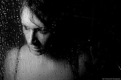 Without me (~* Rae Rae *~) Tags: blackandwhite copyright water portraits studio bathroom shower marieke desaturation canon350d raethrenoworthphotography blueelementphotography raethrenoworth blueelement