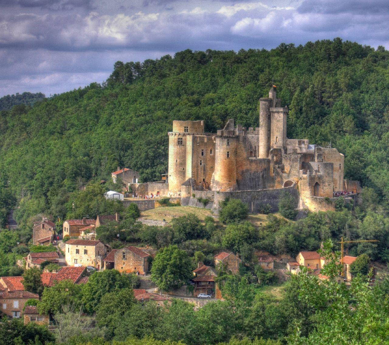 Bonaguil castle, France.