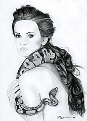 Penelope Cruz (ladyLara ( Laura Blc )) Tags: portrait bw woman laura celebrity art lines pencil sketch blackwhite artwork penelope handmade drawing drawings line cruz romania myart actor portret cluj arta myway desen creion schita ladylara laurabalc laurablc blc celebritydrawings