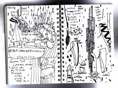 sketchbook (senyol) Tags: world life white black art pen shoes war drawing 2006 sketchbook doodle page won paperclip senyol