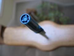 pen (Sam UL) Tags: blue macro pen canon powershot banister s3 supermacro canonpowershot papermate s3is