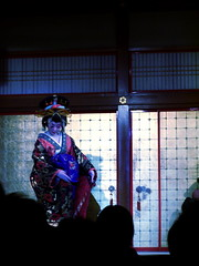 Frozen. (nate in japan) Tags: blue japan dance geisha
