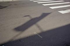 pedestrian X-ing (drl.) Tags: shadow brasil sopaulo x canonae1 xis pinheiros purged almoststreuneristic purge446